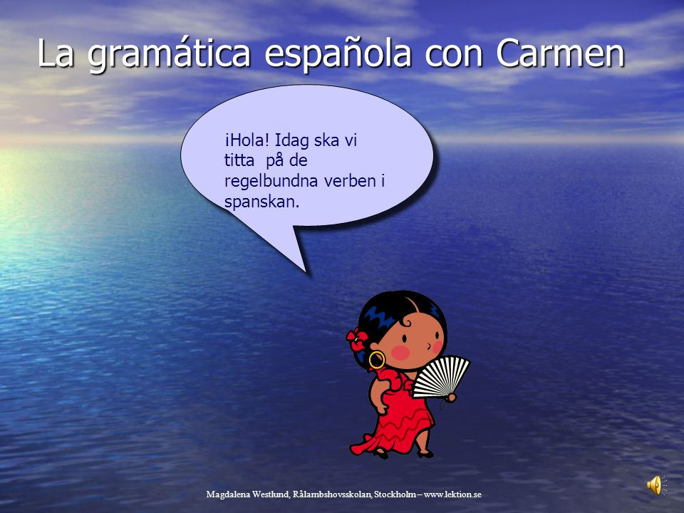 La gramática española con Carmen