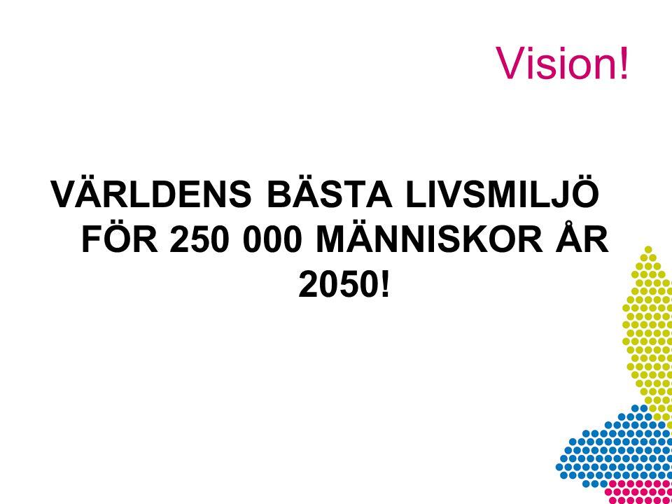 VÄRLDENS BÄSTA LIVSMILJÖ FÖR 250 000 MÄNNISKOR ÅR 2050!