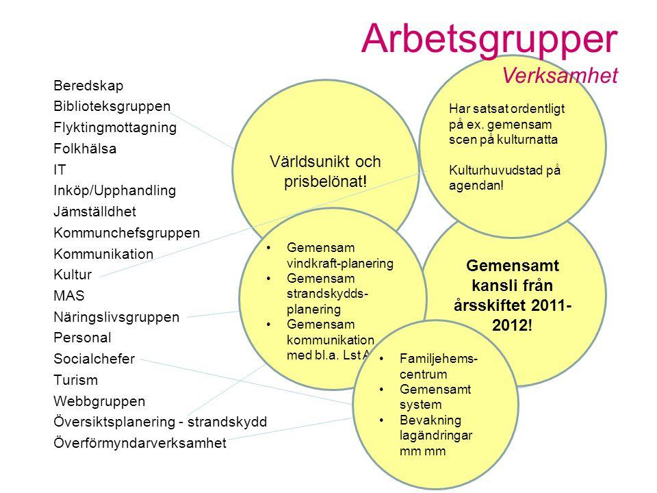 Gemensamt kansli från årsskiftet 2011-2012!