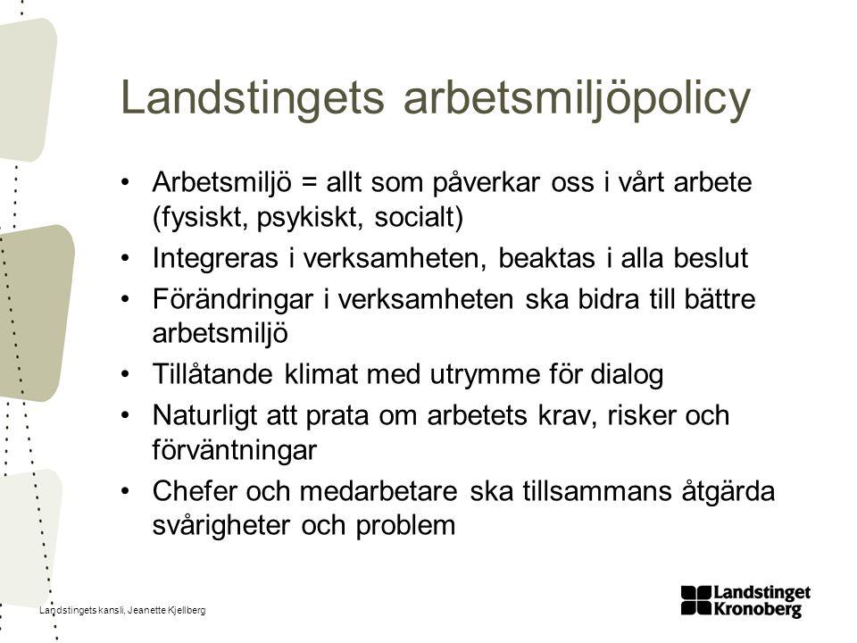 Landstingets arbetsmiljöpolicy