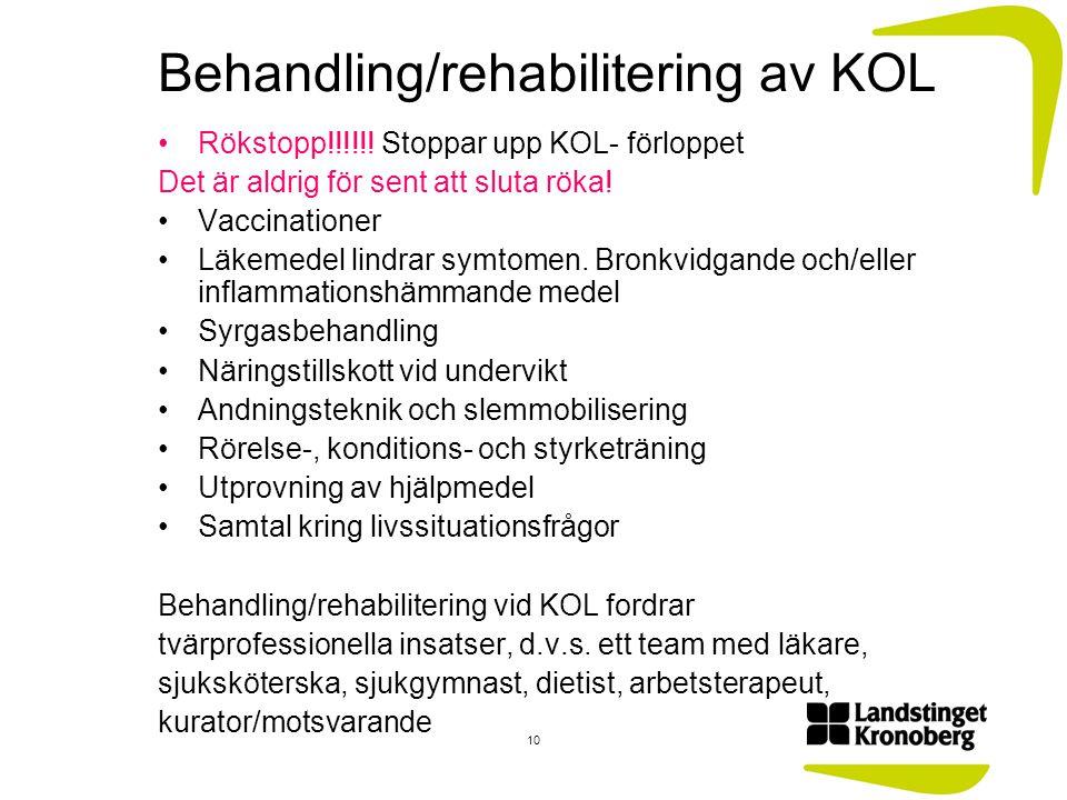 Behandling/rehabilitering av KOL