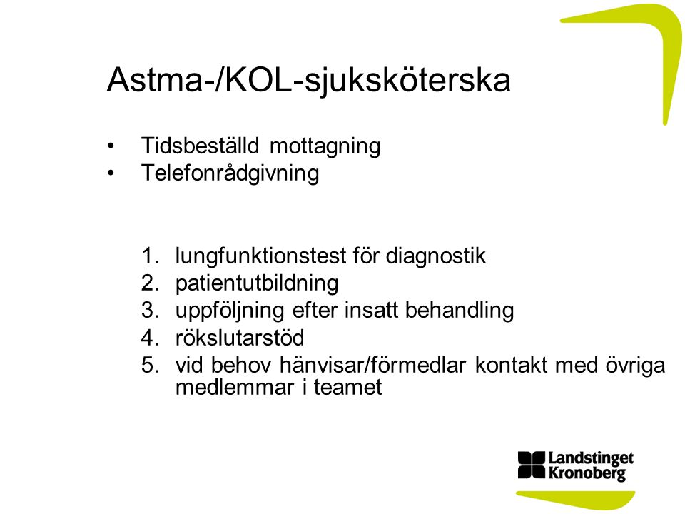 Astma-/KOL-sjuksköterska