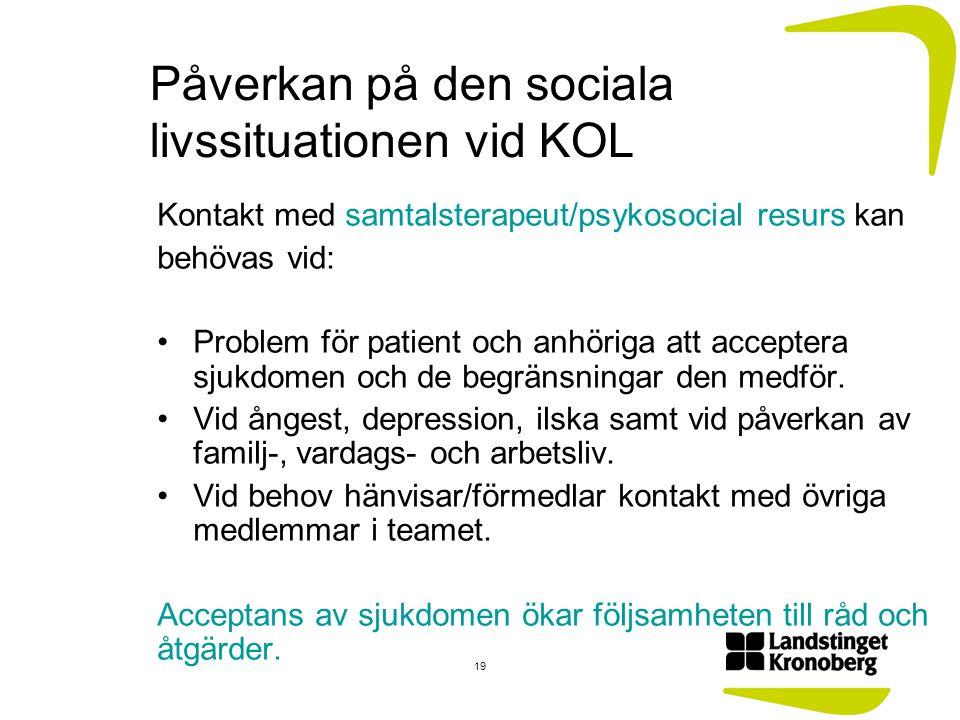 Påverkan på den sociala livssituationen vid KOL