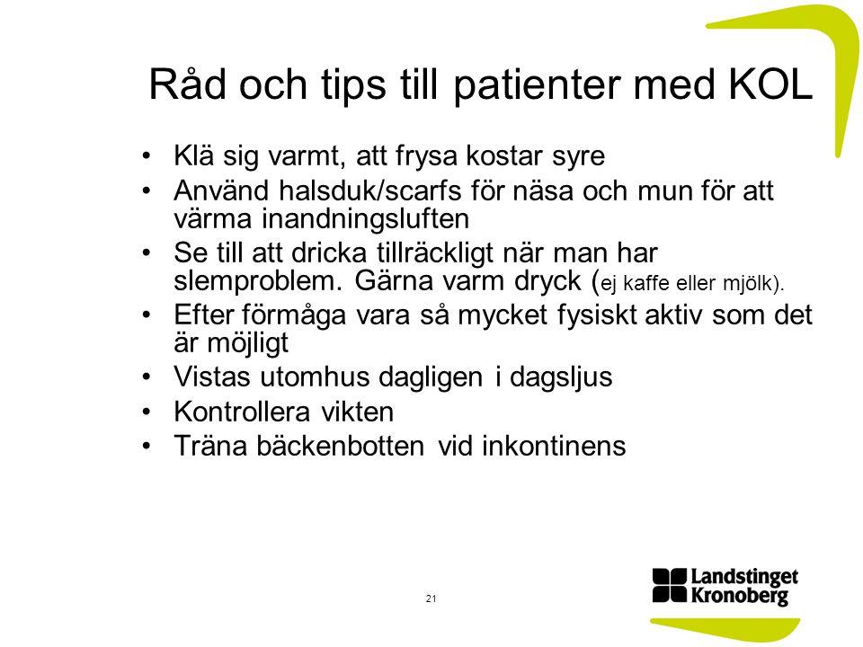 Råd och tips till patienter med KOL
