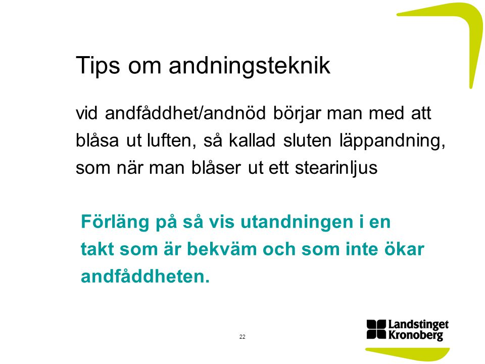 Tips om andningsteknik
