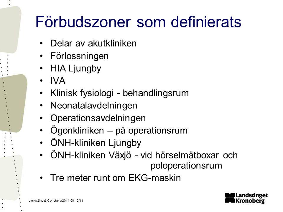 Förbudszoner som definierats
