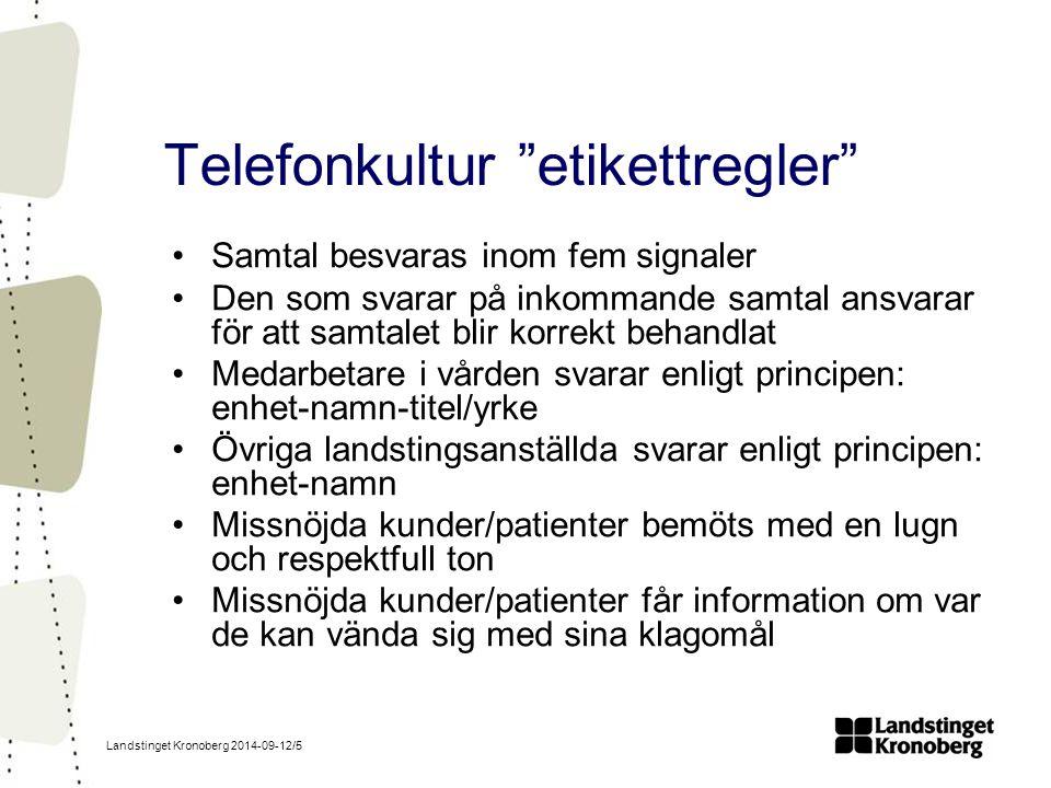 Telefonkultur etikettregler