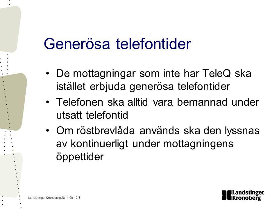 Generösa telefontider
