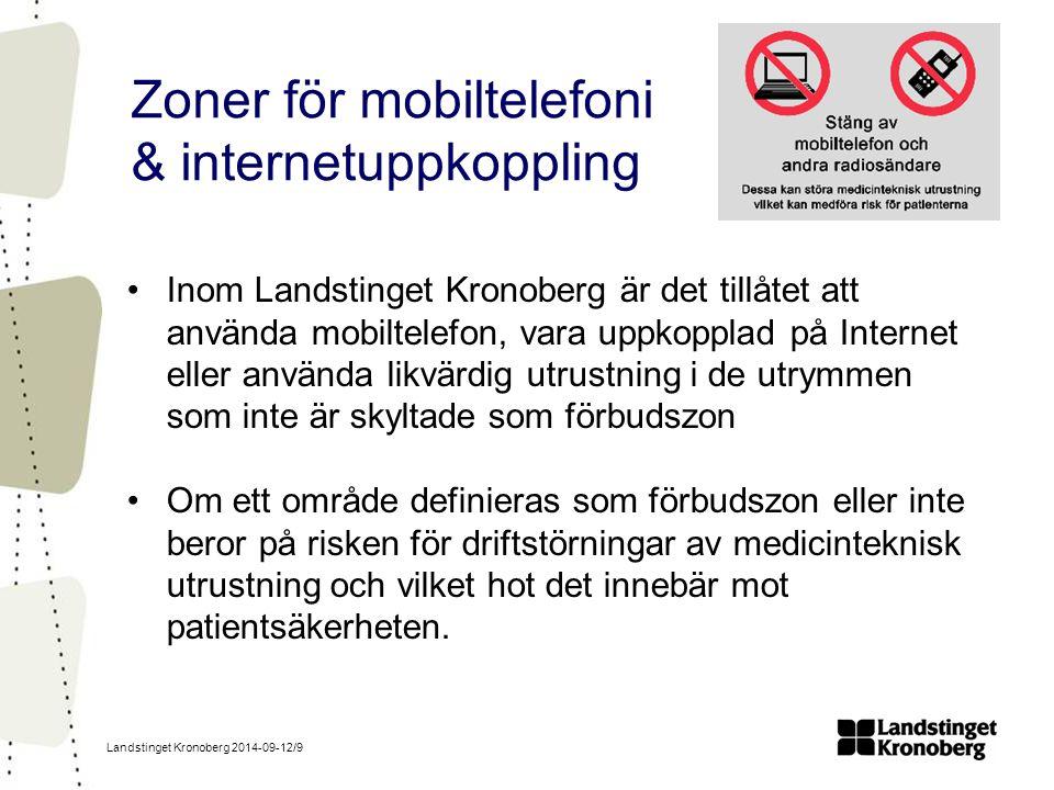 Zoner för mobiltelefoni & internetuppkoppling