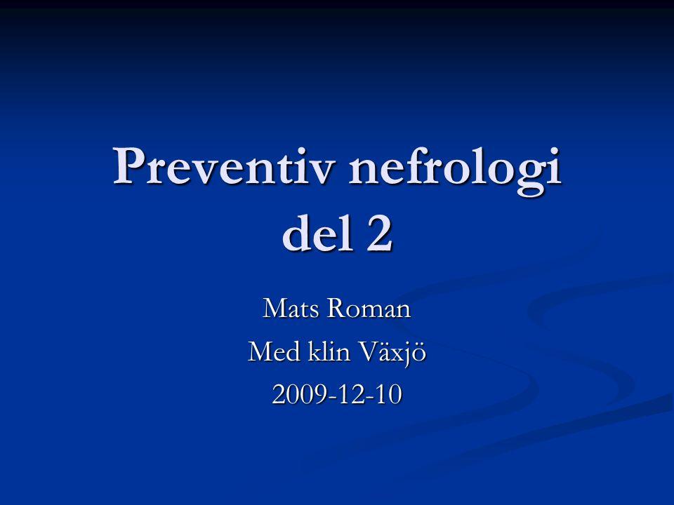 Preventiv nefrologi del 2