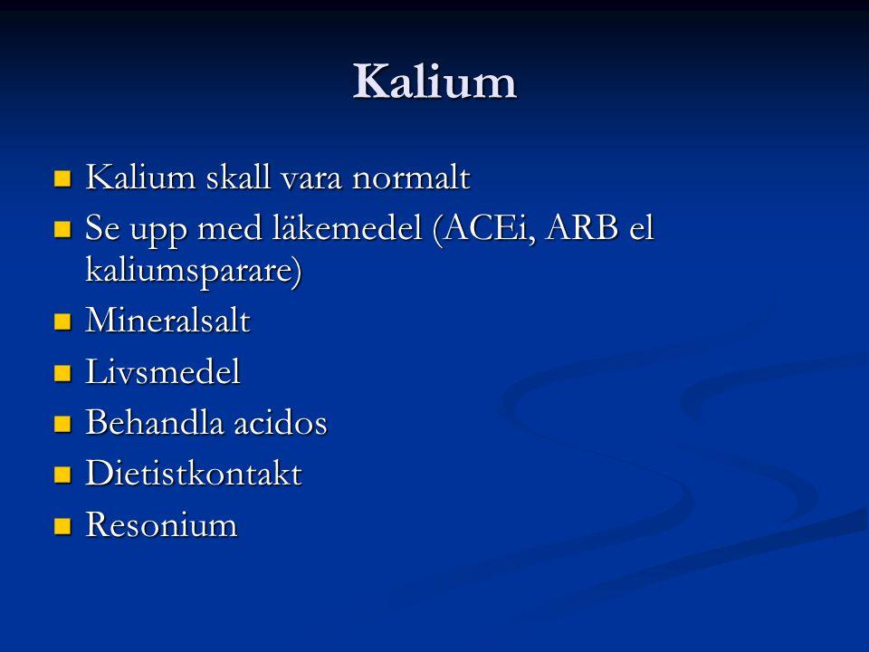 Kalium Kalium skall vara normalt