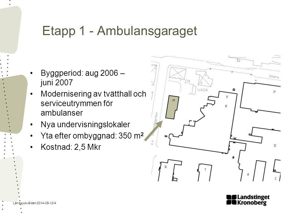 Etapp 1 - Ambulansgaraget