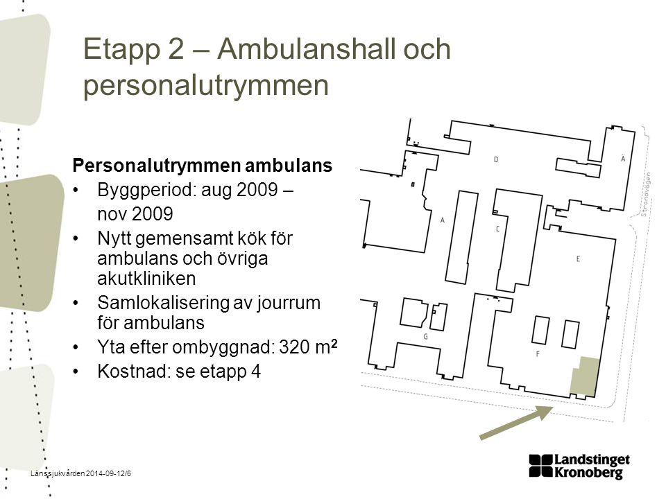 Etapp 2 – Ambulanshall och personalutrymmen