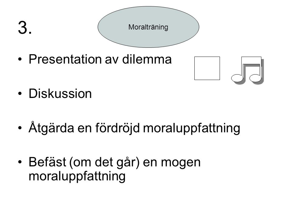3. Presentation av dilemma Diskussion