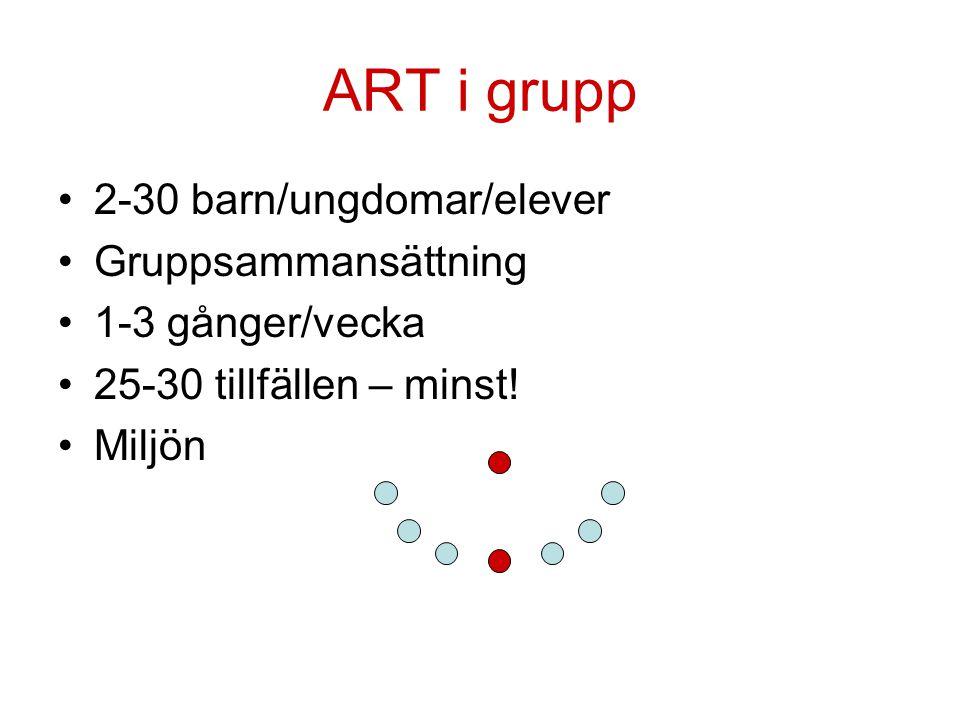 ART i grupp 2-30 barn/ungdomar/elever Gruppsammansättning
