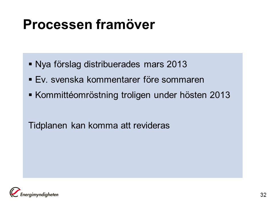 Processen framöver Nya förslag distribuerades mars 2013