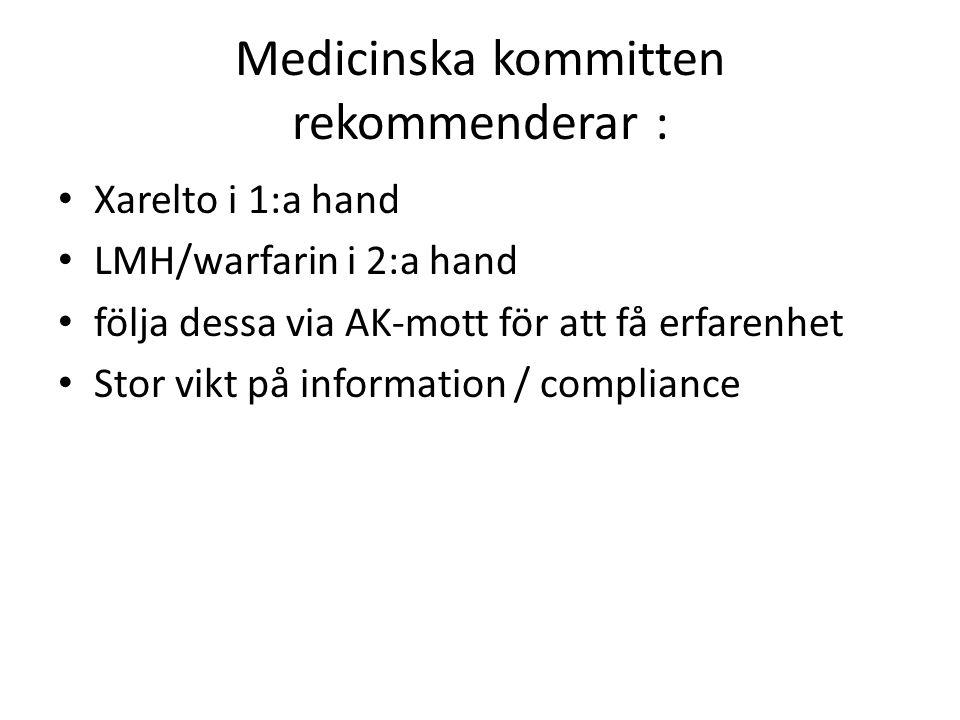 Medicinska kommitten rekommenderar :