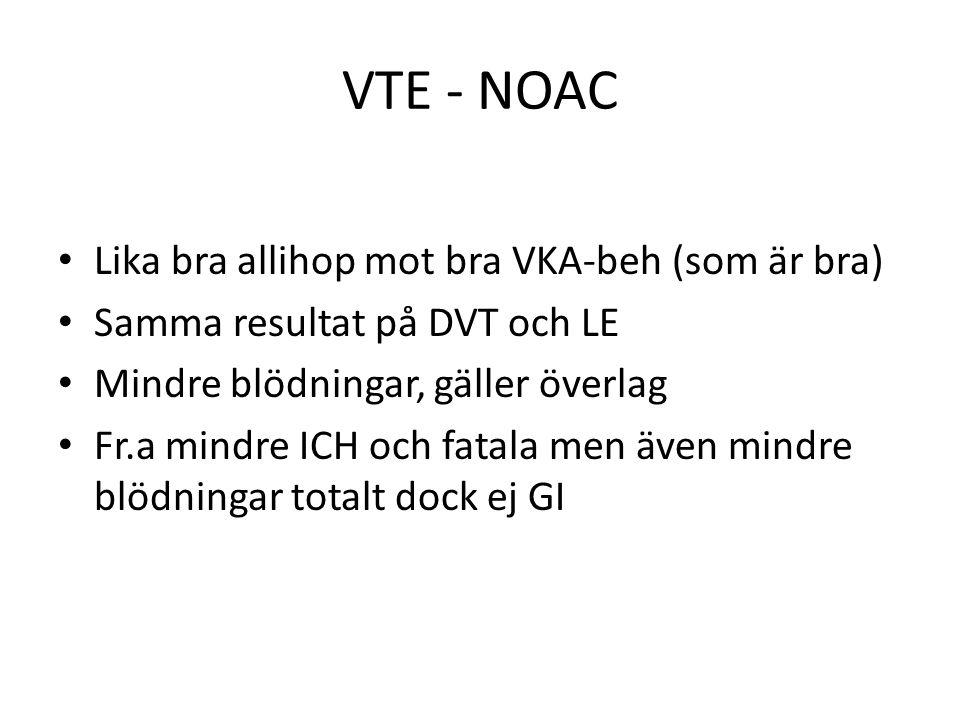 VTE - NOAC Lika bra allihop mot bra VKA-beh (som är bra)