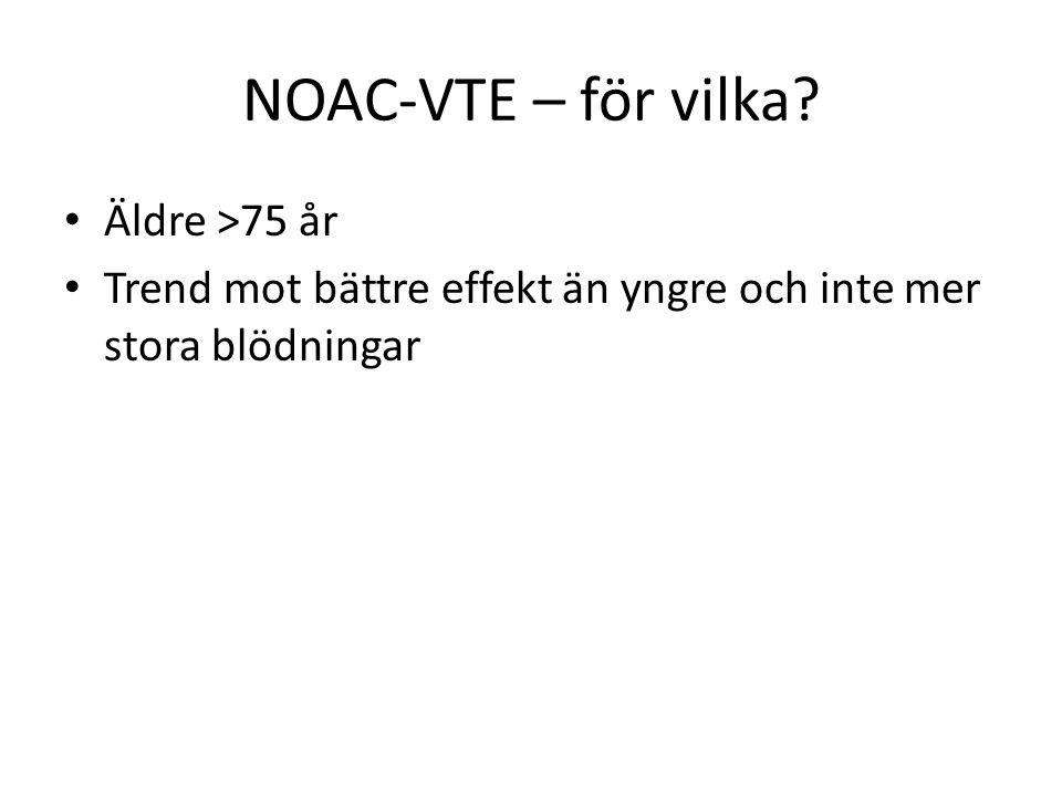 NOAC-VTE – för vilka Äldre >75 år