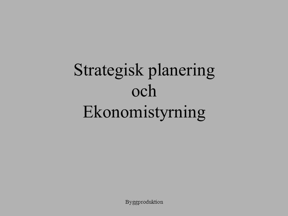 Strategisk planering och Ekonomistyrning
