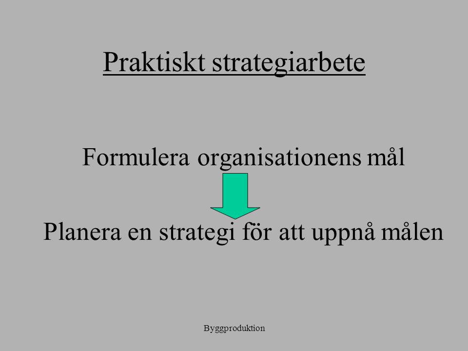 Praktiskt strategiarbete