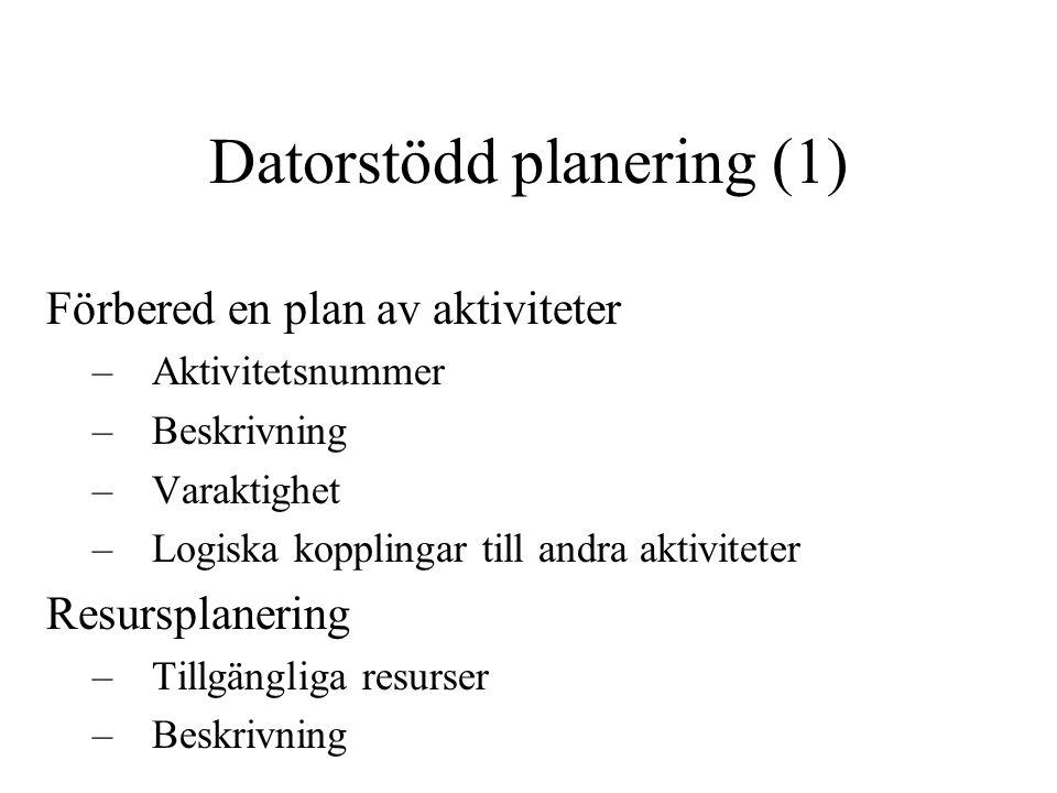 Datorstödd planering (1)