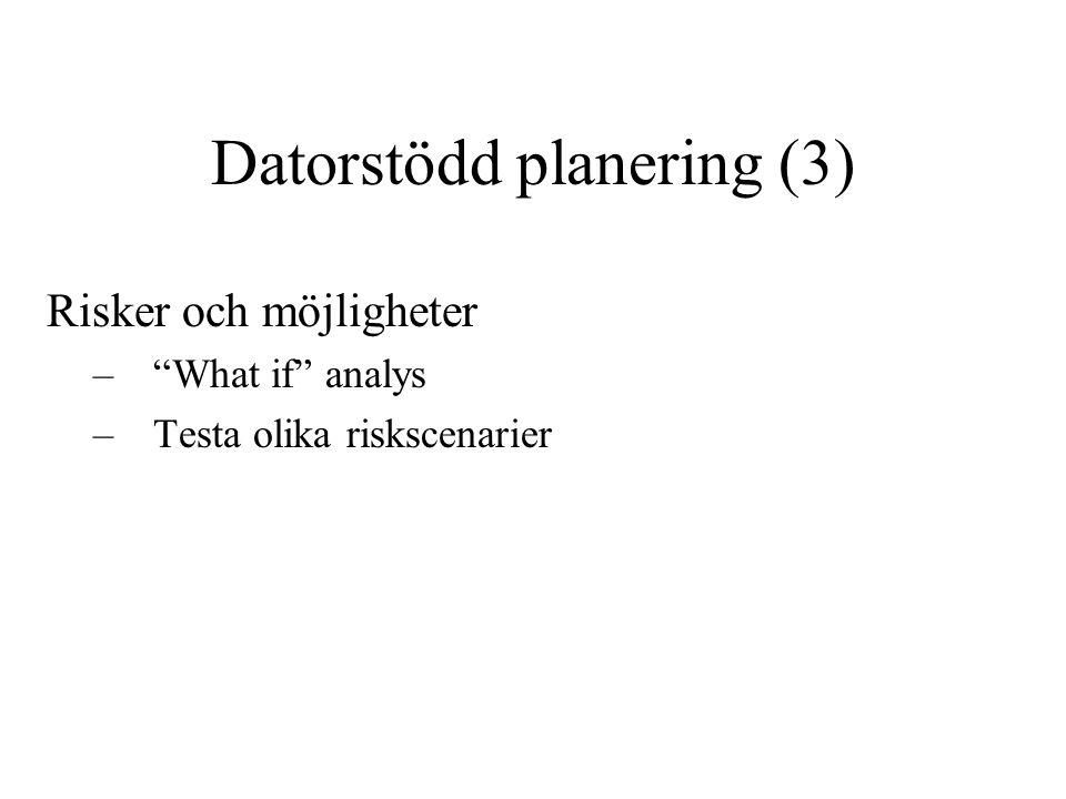 Datorstödd planering (3)