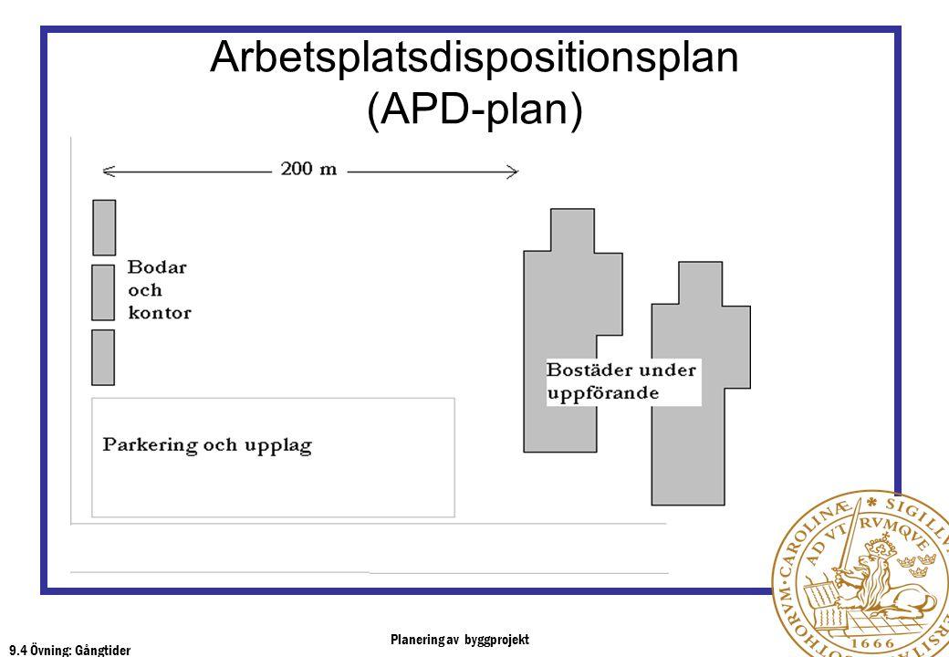Arbetsplatsdispositionsplan (APD-plan)