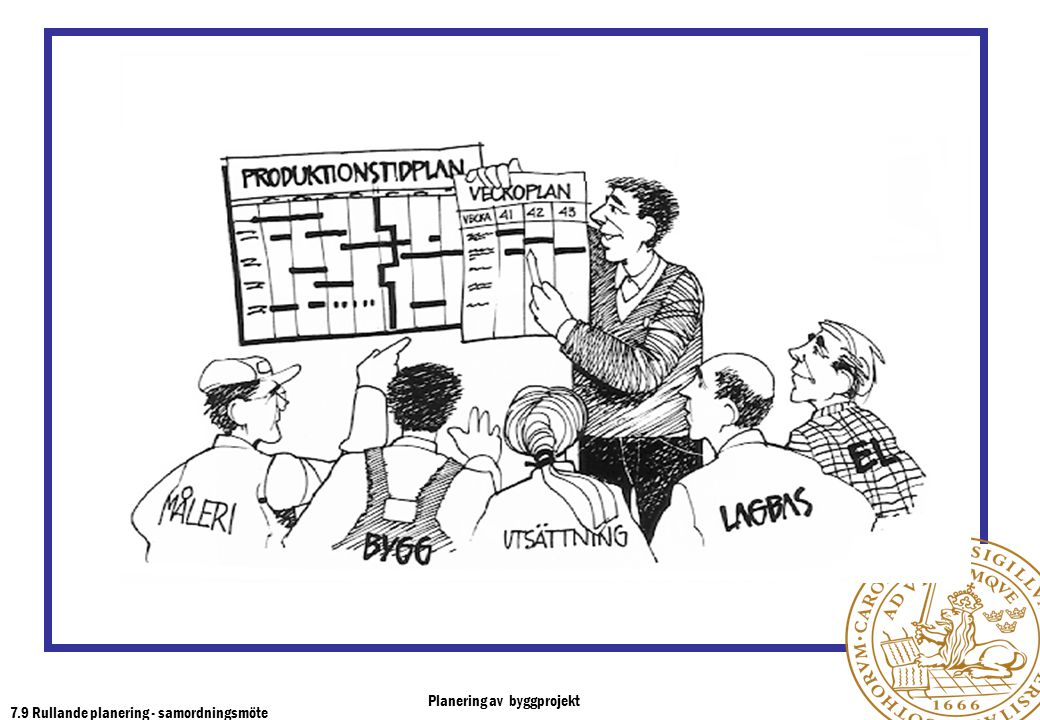 7.9 Rullande planering - samordningsmöte