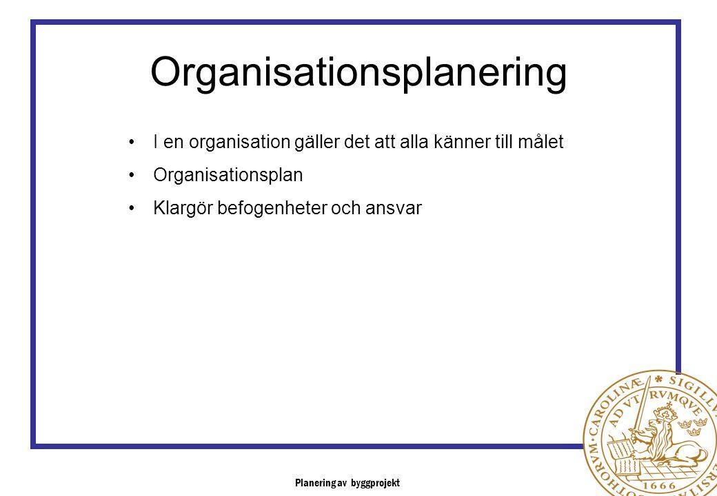 Organisationsplanering