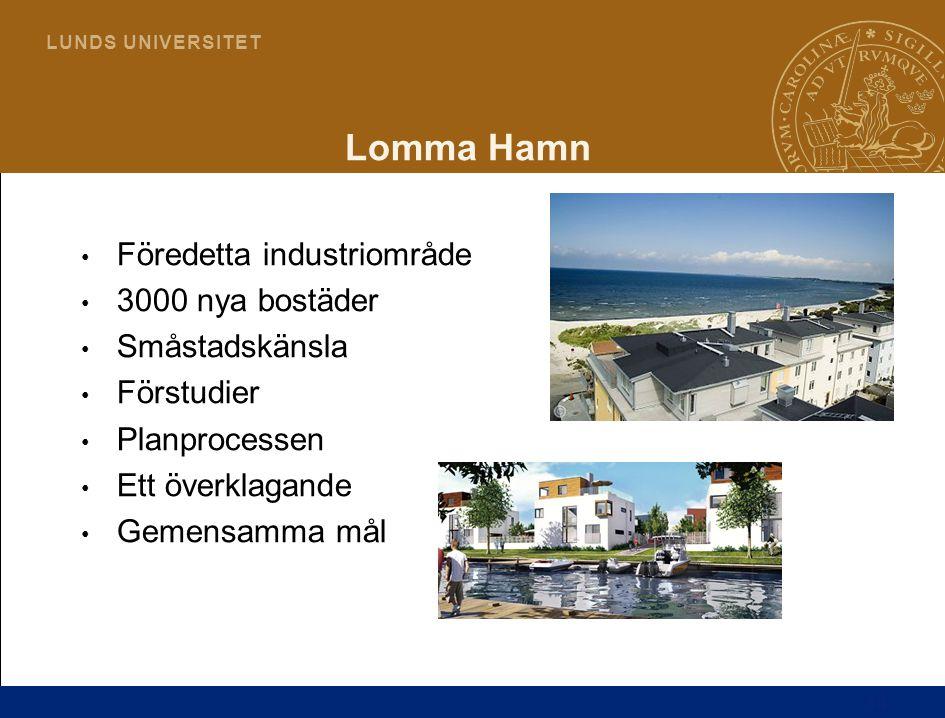 Lomma Hamn Föredetta industriområde 3000 nya bostäder Småstadskänsla