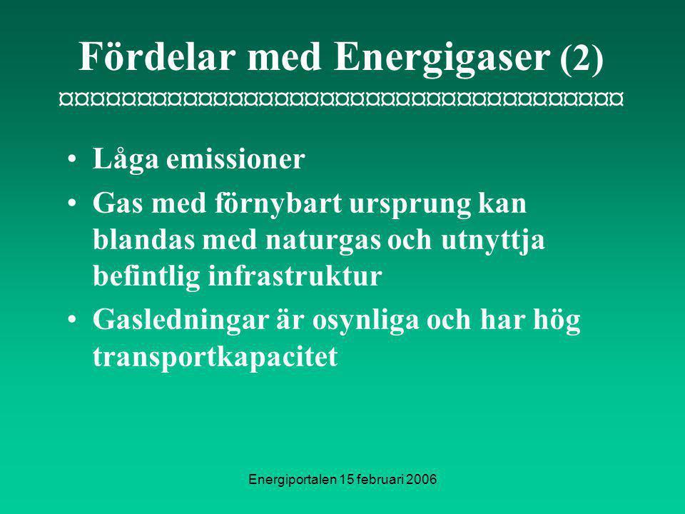 Fördelar med Energigaser (2) ¤¤¤¤¤¤¤¤¤¤¤¤¤¤¤¤¤¤¤¤¤¤¤¤¤¤¤¤¤¤¤¤¤¤¤¤¤