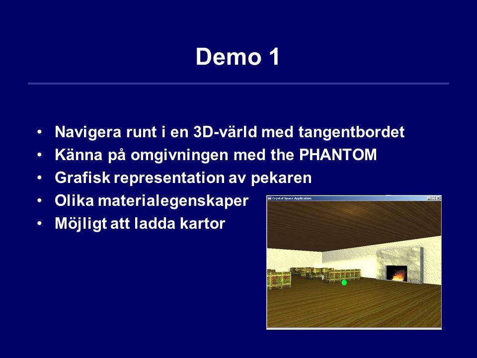Demo 1 Navigera runt i en 3D-värld med tangentbordet