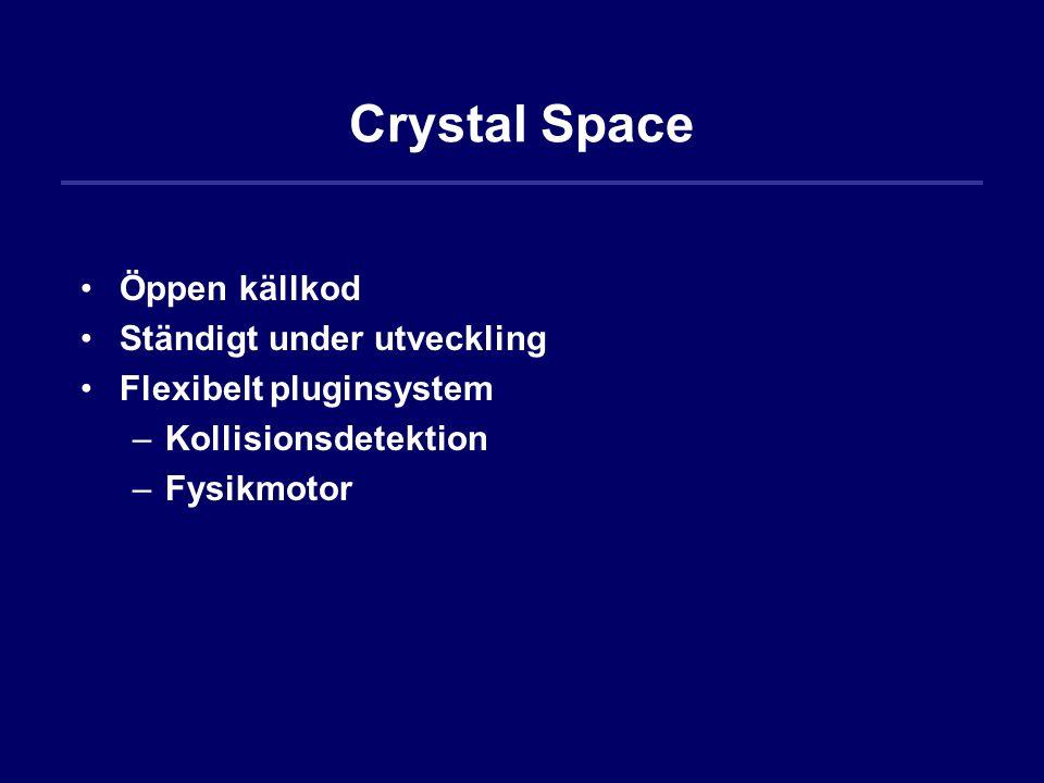 Crystal Space Öppen källkod Ständigt under utveckling