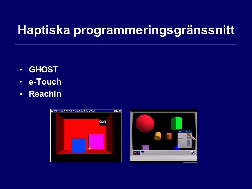 Haptiska programmeringsgränssnitt