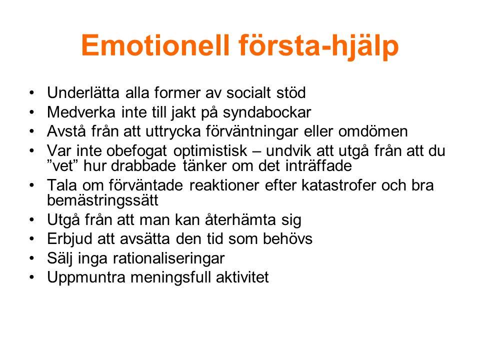 Emotionell första-hjälp