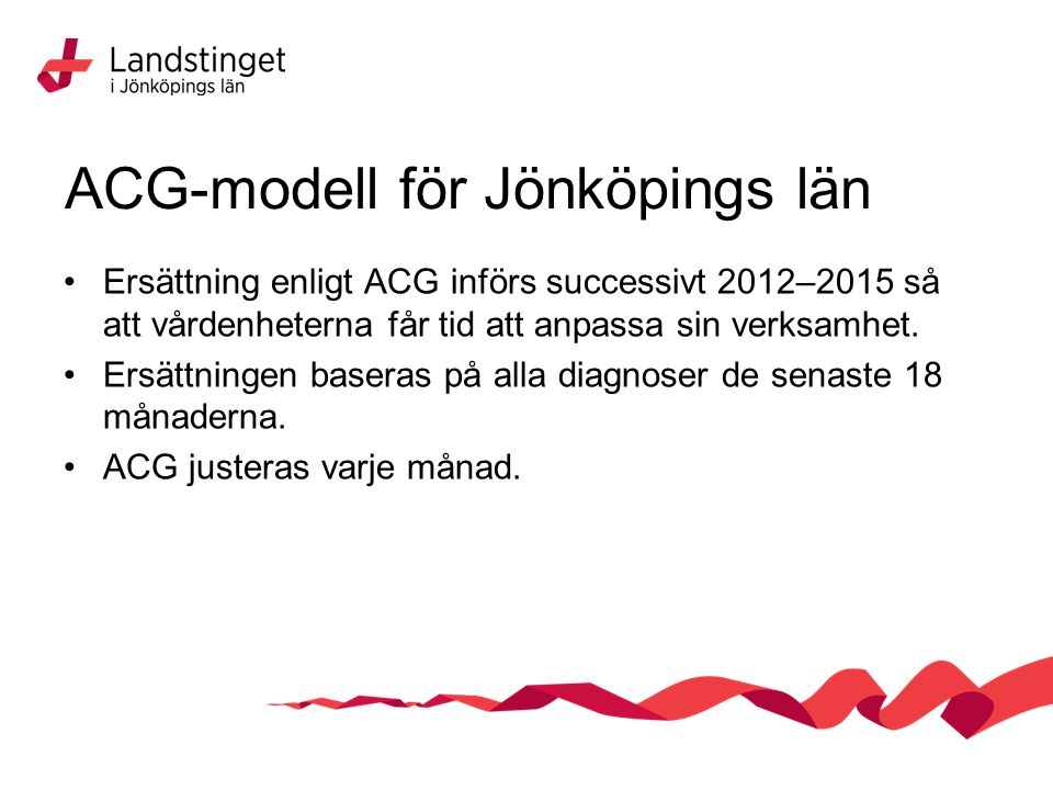 ACG-modell för Jönköpings län