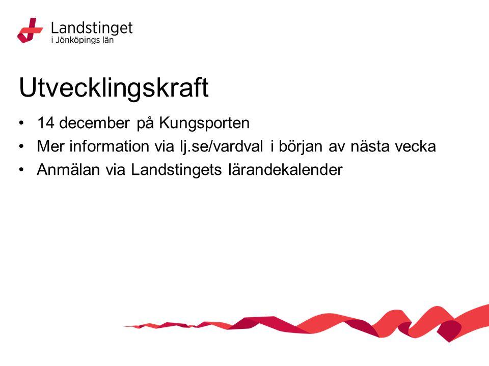 Utvecklingskraft 14 december på Kungsporten