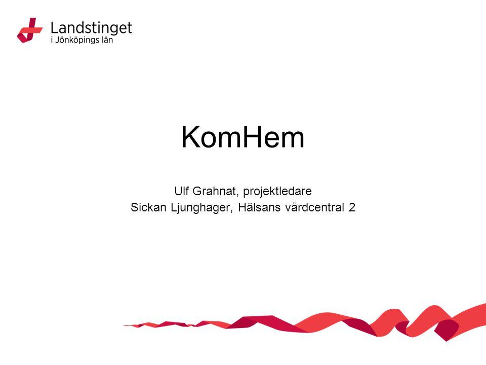 Ulf Grahnat, projektledare Sickan Ljunghager, Hälsans vårdcentral 2