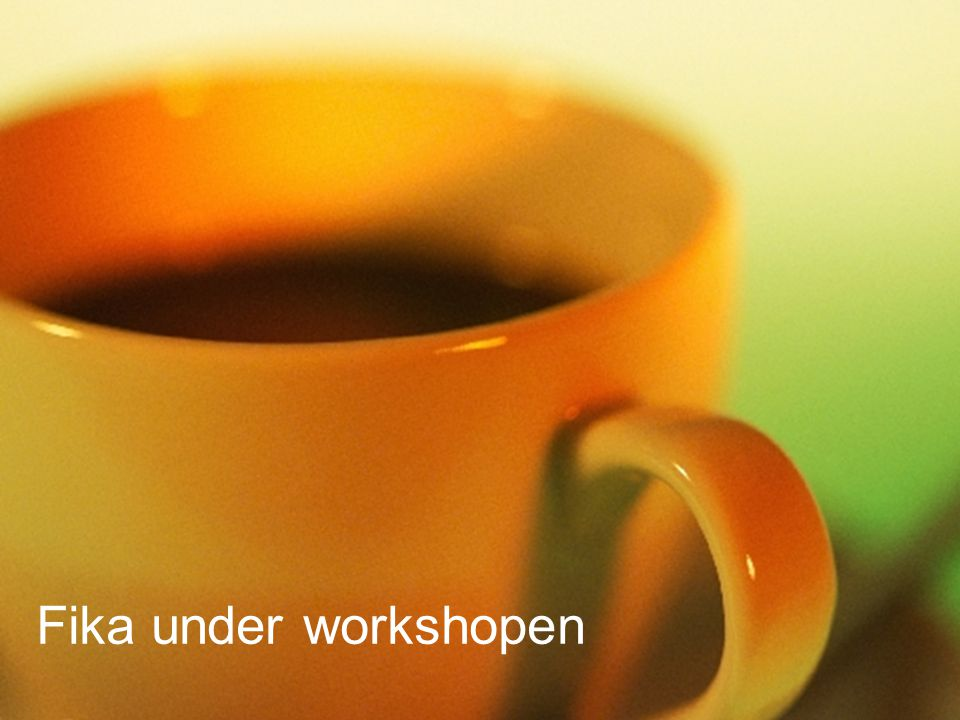 Fika under workshopen