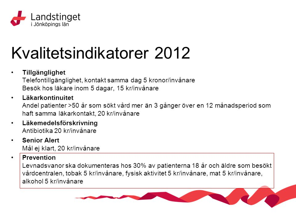 Kvalitetsindikatorer 2012