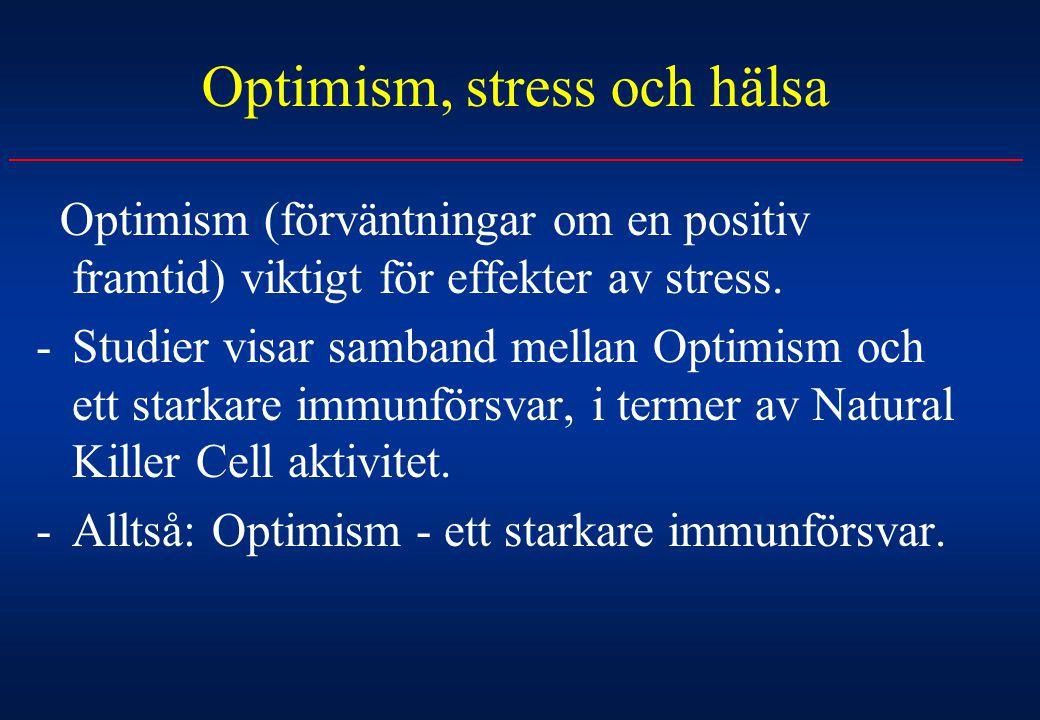 Optimism, stress och hälsa