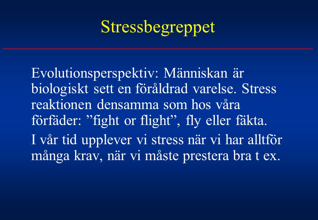 Stressbegreppet