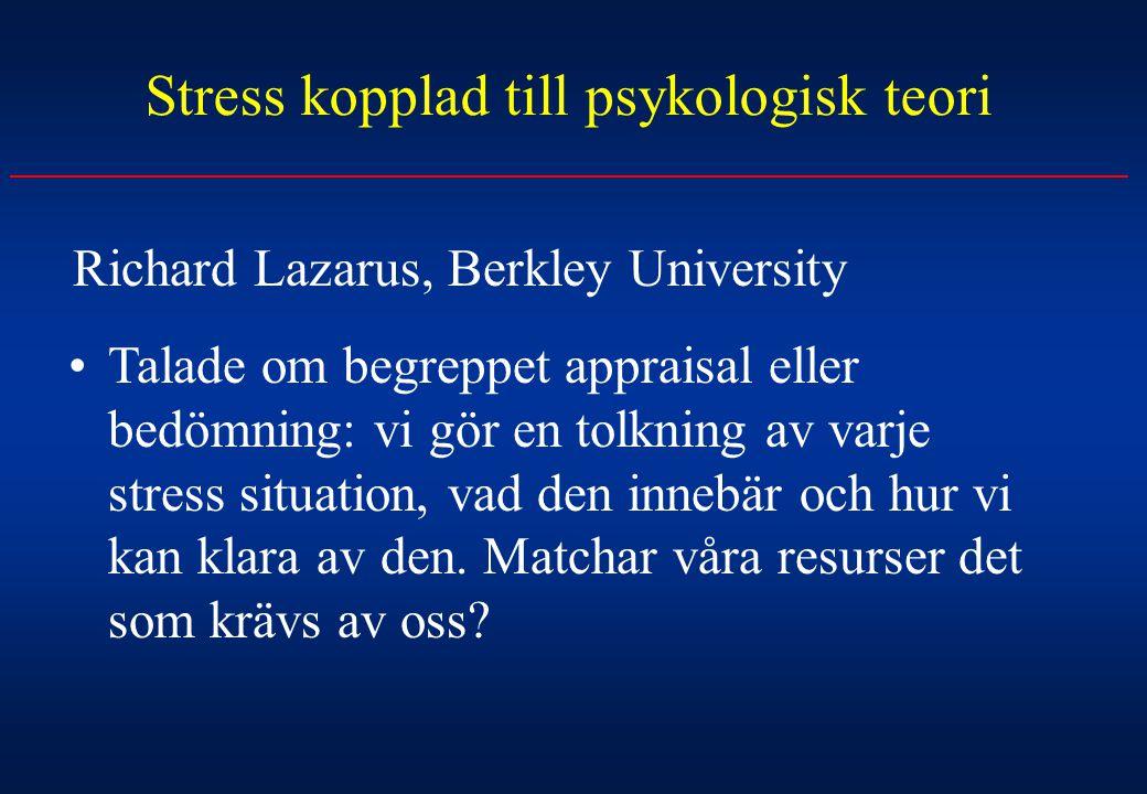 Stress kopplad till psykologisk teori