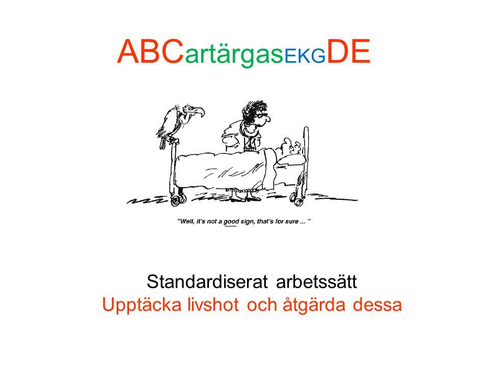 ABCartärgasEKGDE Standardiserat arbetssätt Upptäcka livshot och åtgärda dessa