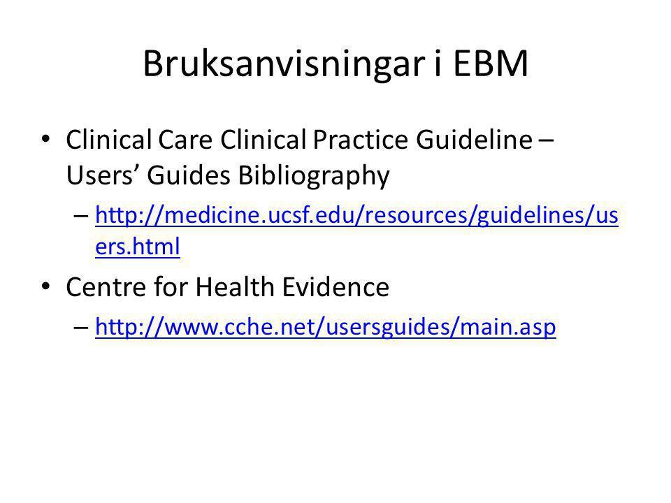 Bruksanvisningar i EBM