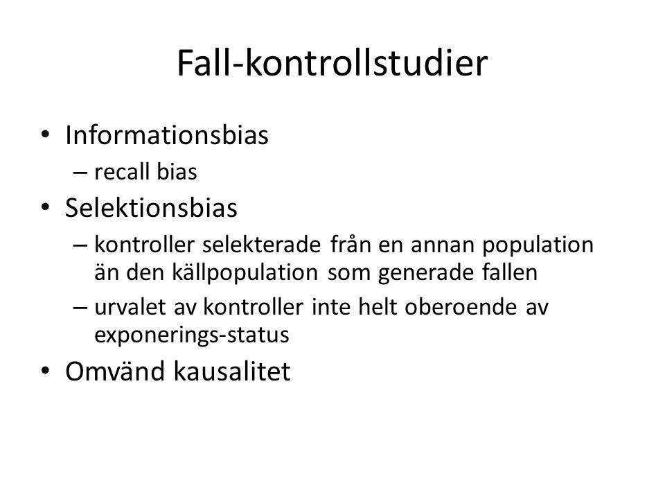 Fall-kontrollstudier