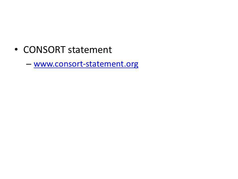 CONSORT statement www.consort-statement.org