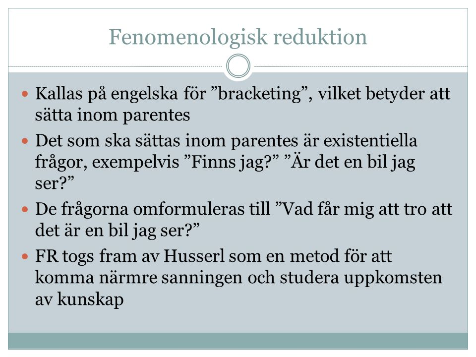 Fenomenologisk reduktion