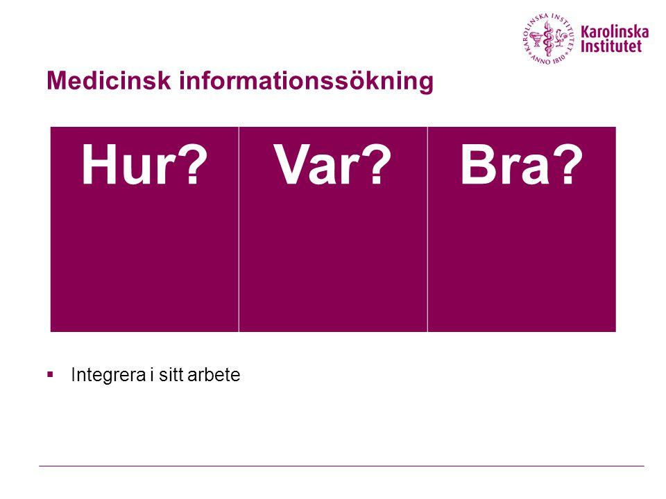 Medicinsk informationssökning